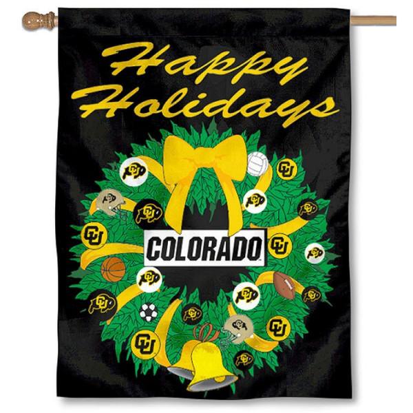 CU Buffaloes Holiday Flag