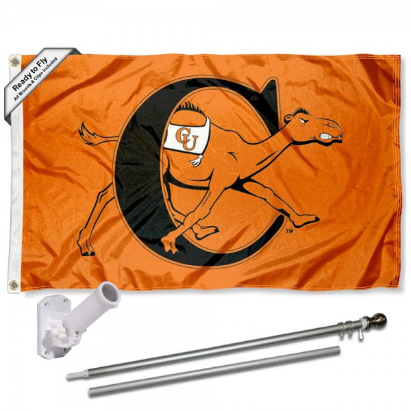 CU Fighting Camels Flag and Bracket Flagpole Kit