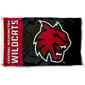 CWU Wildcats Wordmark Logo Flag