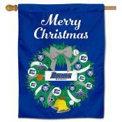 Daemen Wildcats Christmas Holiday House Flag