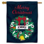 Dallas Baptist Patriots Christmas Holiday House Flag