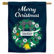 Dalton State Roadrunners Christmas Holiday House Flag