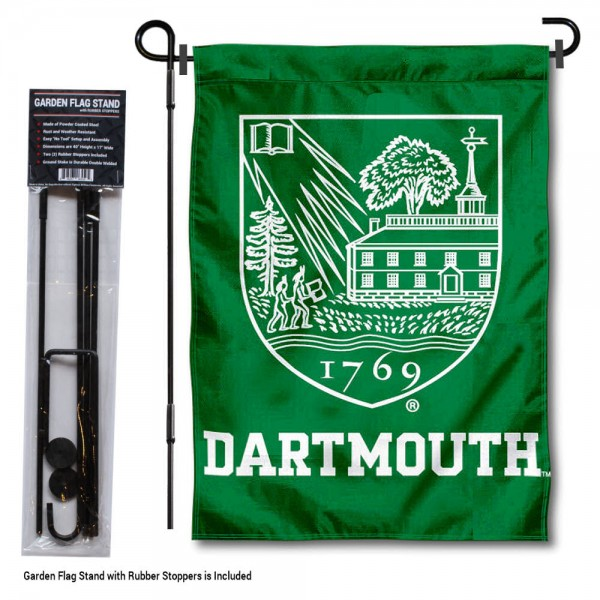 Dartmouth Big Green Garden Flag and Holder