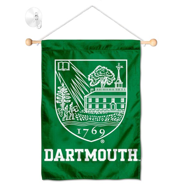 Dartmouth Big Green Window Hanging Banner with Suction Cup