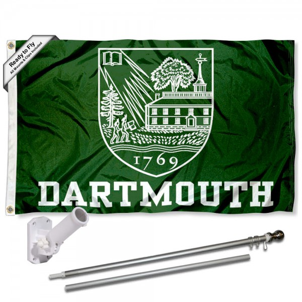 Dartmouth College Flag and Bracket Flagpole Kit