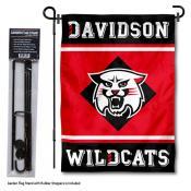 Davidson College Garden Flag and Yard Pole Holder Set