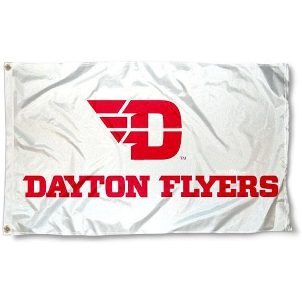 Dayton Flyers New Logo White Flag