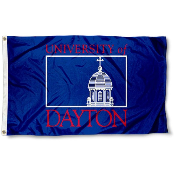 Dayton Flyers Wordmark Logo Flag