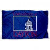Dayton Flyers Wordmark Logo Flag