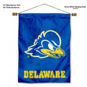 Delaware Blue Hens Banner with Pole