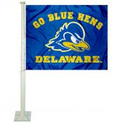 Delaware Blue Hens Car Flag
