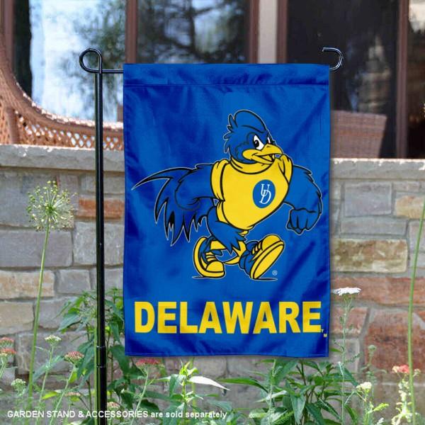 Delaware Blue Hens Mascot Garden Flag