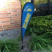 Delaware Blue Hens Mini Teardrop Garden Flag