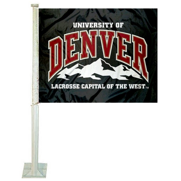Denver DU Pioneers Car Flag
