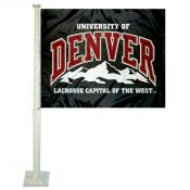 Denver DU Pioneers Car Flag