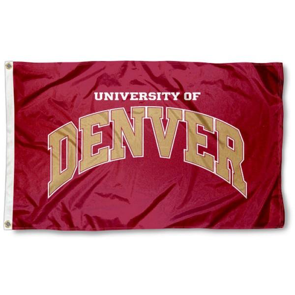 Denver Pioneers Crimson Flag