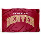 Denver Pioneers Crimson Flag
