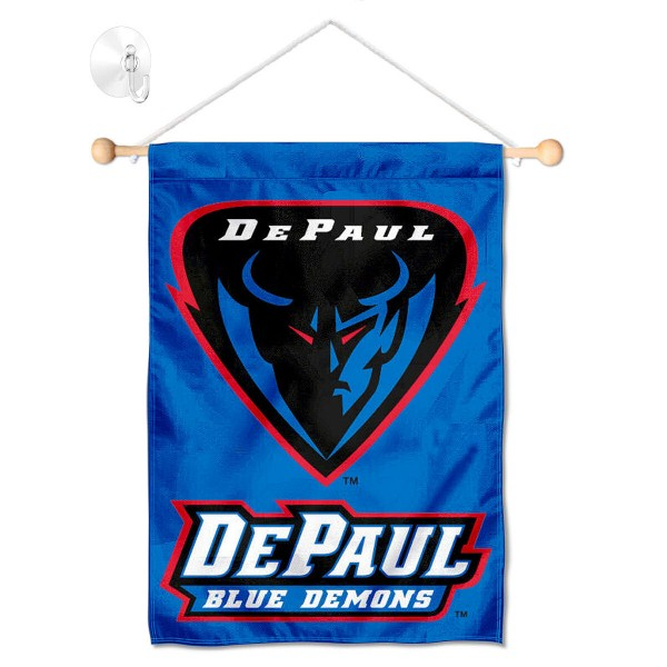 DePaul Blue Demons Window Hanging Banner with Suction Cup