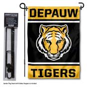 DePauw Tigers Garden Flag and Yard Pole Holder Set