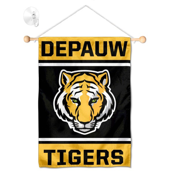 DePauw Tigers Window Hanging Banner with Suction Cup