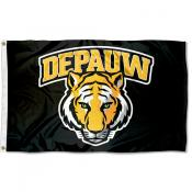 DePauw Tigers Wordmark Logo 3x5 Foot Flag