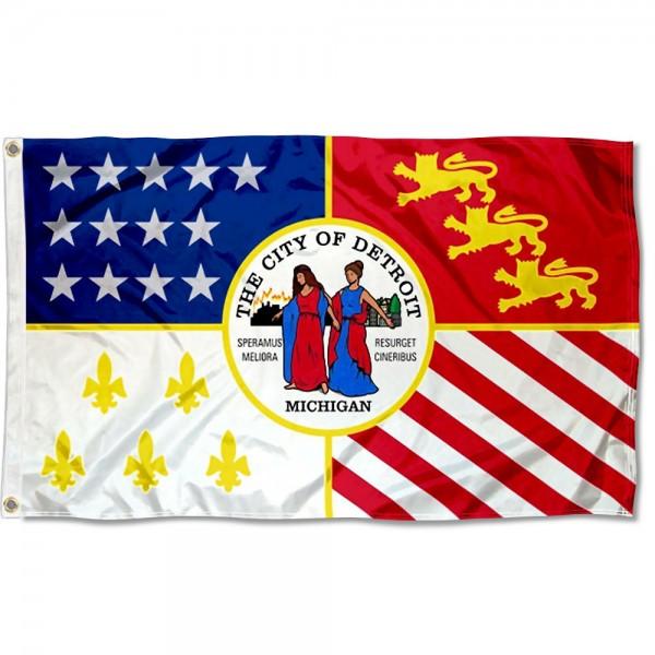 Detroit City 3x5 Foot Flag