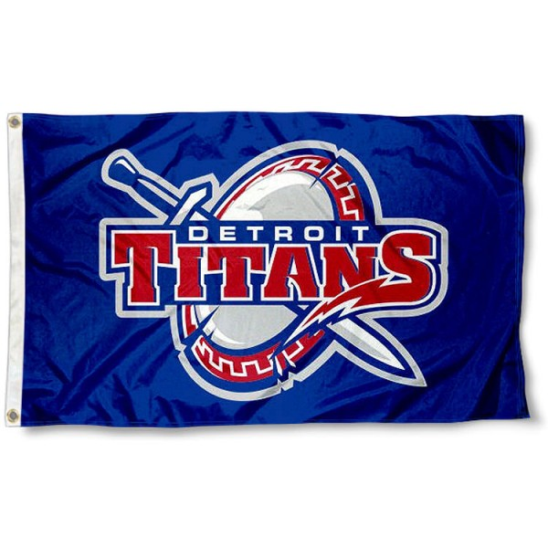 Detroit Mercy Titan Shield Logo Flag