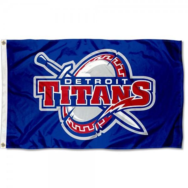 Detroit Mercy Titan Shield Logo Flag