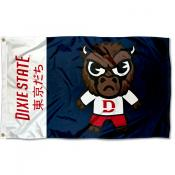 Dixie State Trailblazers Tokyodachi Cartoon Mascot Flag