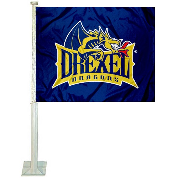 Drexel Dragons Car Flag