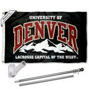 DU Pioneers Flag and Bracket Mount Flagpole Set
