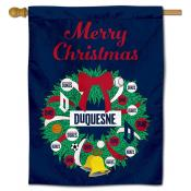 Duquesne Dukes Christmas Holiday House Flag