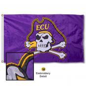 East Carolina Pirates Appliqued Sewn Nylon Flag