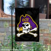 East Carolina Pirates Black Garden Banner