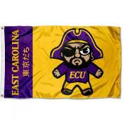 East Carolina Pirates Tokyodachi Cartoon Mascot Flag