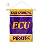 East Carolina Pirates Window Hanging Banner with Suction Cup