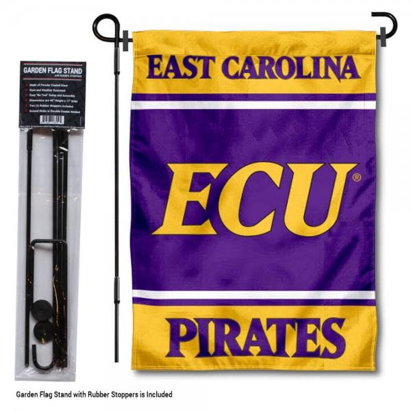 East Carolina University Garden Flag and Yard Pole Holder Set