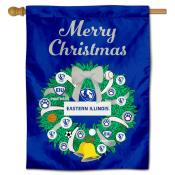 Eastern Illinois Panthers Christmas Holiday House Flag
