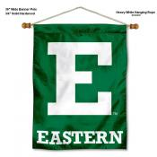 Eastern Michigan Eagles Banner with Pole