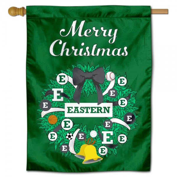 Eastern Michigan Eagles Christmas Holiday House Flag