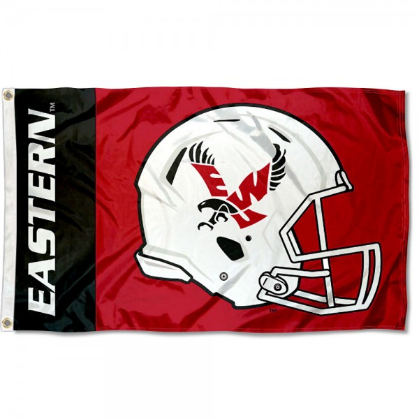 Eastern Washington Eagles Helmet Flag