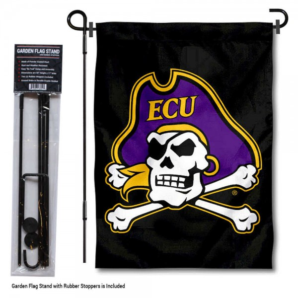 ECU Pirates Garden Flag and Holder
