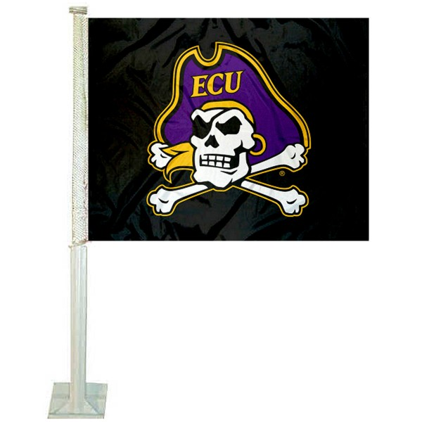 ECU Pirates Logo Car Flag