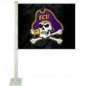 ECU Pirates Logo Car Flag