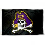 ECU Pirates Skull Head Logo Flag