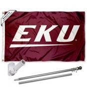 EKU Colonels Flag and Bracket Mount Flagpole Set