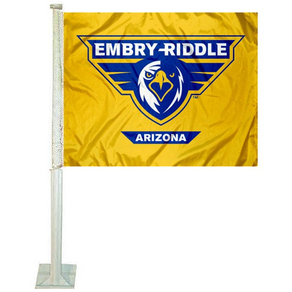 Embry Riddle Eagles Logo Car Flag