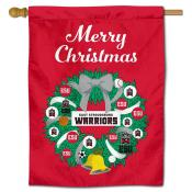 ESU Warriors Christmas Holiday House Flag