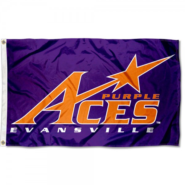 Evansville Purple Aces Flag