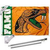FAMU Rattlers Flag and Bracket Flagpole Kit